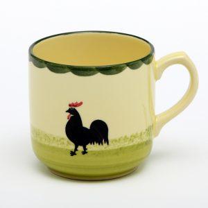 10x Hahn und Henne Kaffeebecher von der Zeller Keramik Manufaktur