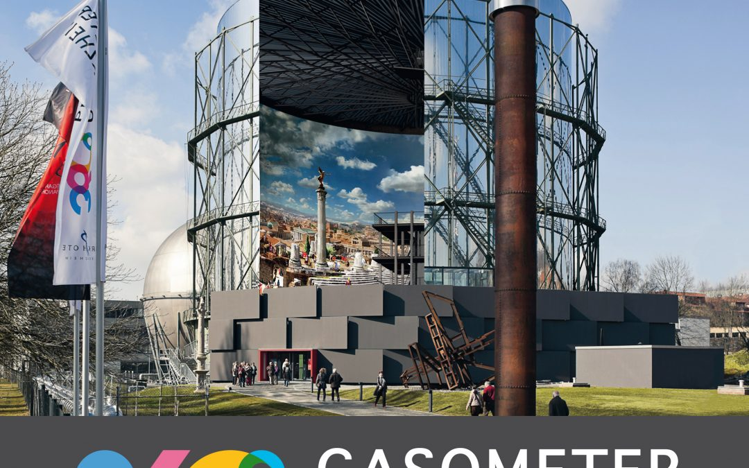 5x Family Cards Gasometer Pforzheim with 360 ° Panorama ROM 312