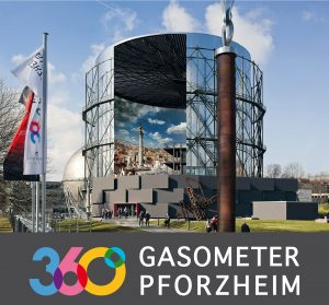 5x Family Cards Gasometer Pforzheim with 360 ° Panorama ROM 312